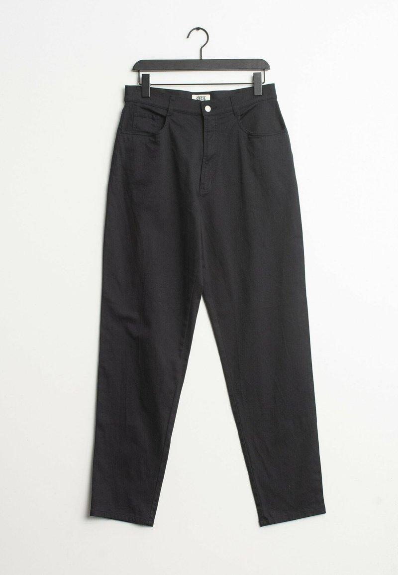 Cecil - Trousers - black