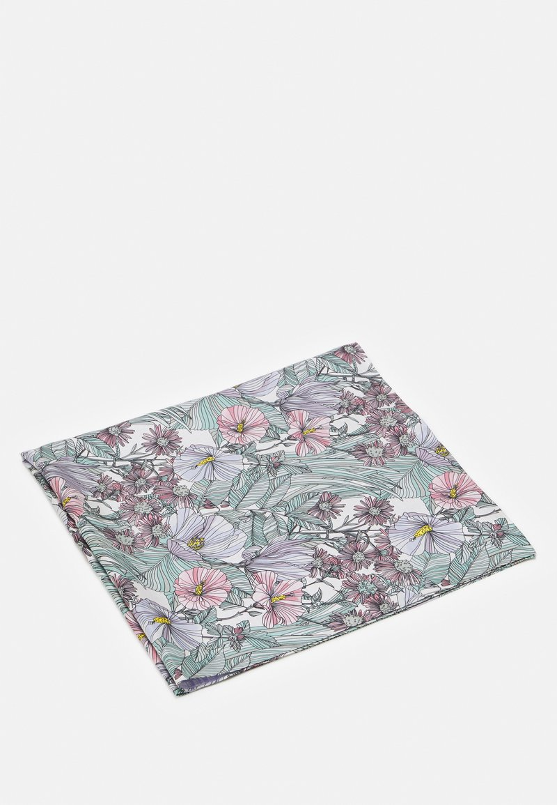 Tory Burch - DOUBLE SIDED HIBISCUS SQUARE - Foulard - white/lavender