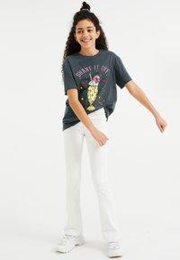WE Fashion - T-shirt print - dark grey - 0