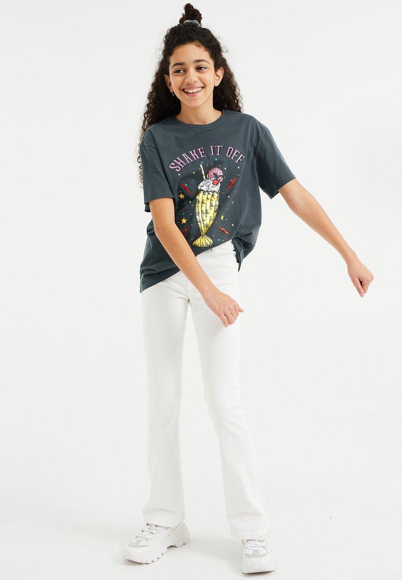 WE Fashion - T-shirt print - dark grey