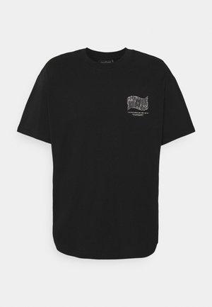 COUTURE WAVE PRINT - Print T-shirt - black
