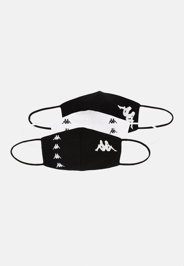 ZAFE 3 PACK UNISEX - Stoffen mondkapje - bright white/black