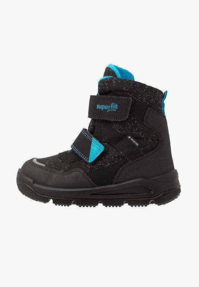 MARS - Winter boots - schwarz/blau
