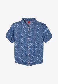 s.Oliver - MET GEKNOOPT DETAIL - Button-down blouse - dark blue - 0