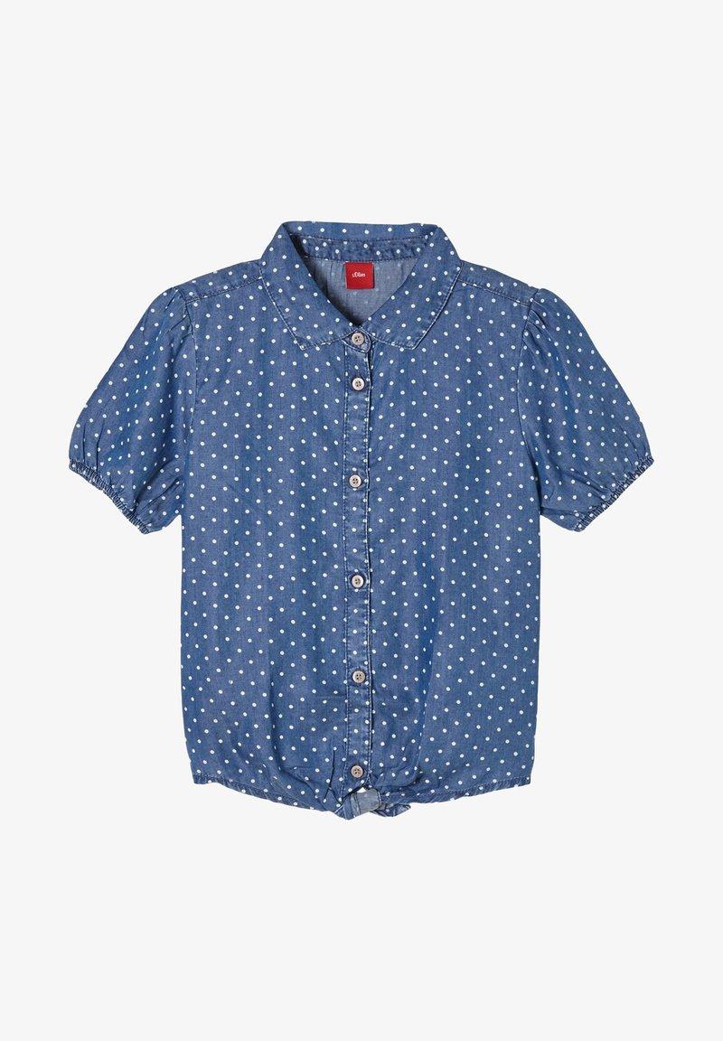 s.Oliver - MET GEKNOOPT DETAIL - Button-down blouse - dark blue