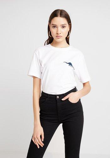 LADIES JURASSIC TEE - Print T-shirt - white