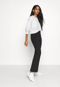 Even&Odd - KICKFLARE BITTON UP TROUSER - Trousers - black - 3