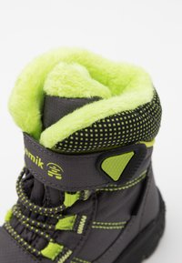 Kamik - STANCE UNISEX - Winter boots - charcoal/lime - 5