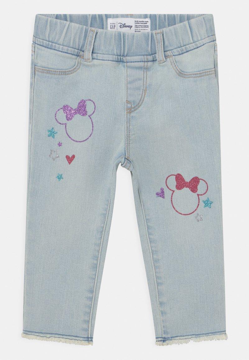 GAP - TODDLER GIRL MINNIE MOUSE ANKLE  - Slim fit jeans - blue denim