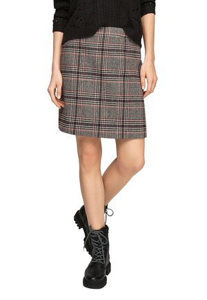 Pencil skirt - offwhite glencheck