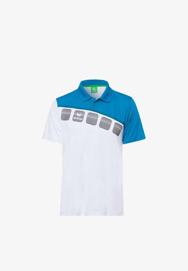 5-C POLOSHIRT KINDER - Poloshirt - white/blue