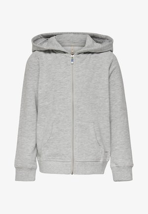 veste en sweat zippée - light grey melange