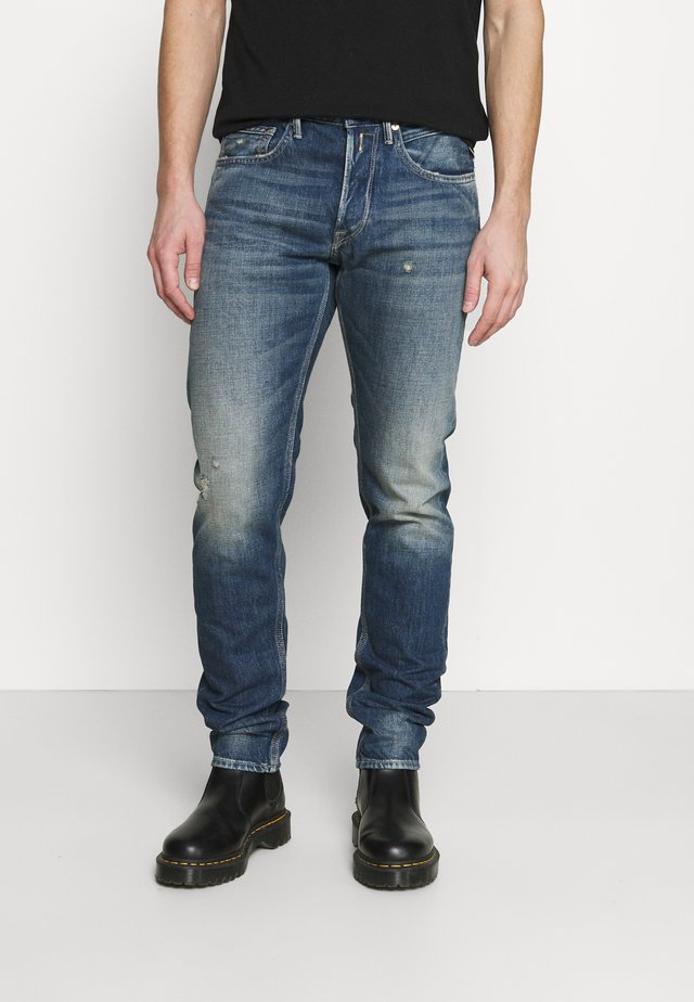 WILLBI AGED ECO - Jeans Tapered Fit - dark blue
