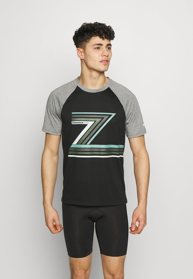 THE Z TEE MEN - Printtipaita - pirate black/gun metal melange