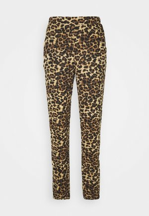 ONLELCOS ANIMAL LONG PANTS - Tracksuit bottoms - camel