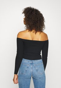 Missguided Tall - SQUARE NECK CROPPED JUMPER - Jumper - black - 2
