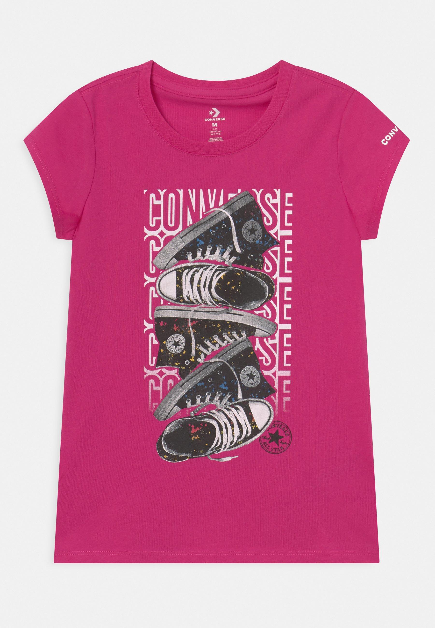 Kids LET IT GLOW SNEAKER STACK TEE - Print T-shirt