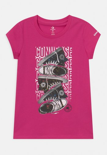 LET IT GLOW SNEAKER STACK TEE - T-shirt con stampa - prime pink