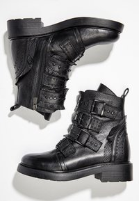 Inuovo - Cowboy/biker ankle boot - black blk - 2
