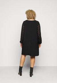 Evans - BLACK SPOT DRESS - Day dress - black - 2