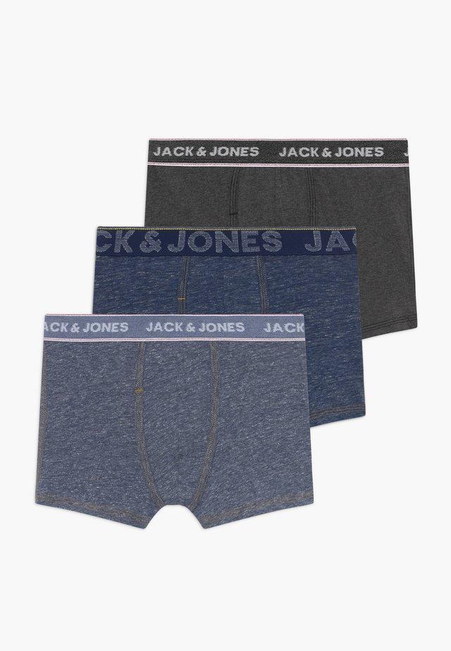 JACDENIM TRUNKS 3 PACK - Shorty - navy blazer/dark grey