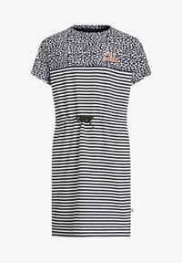 WE Fashion - MEISJES JURK - Jersey dress - white,black - 0
