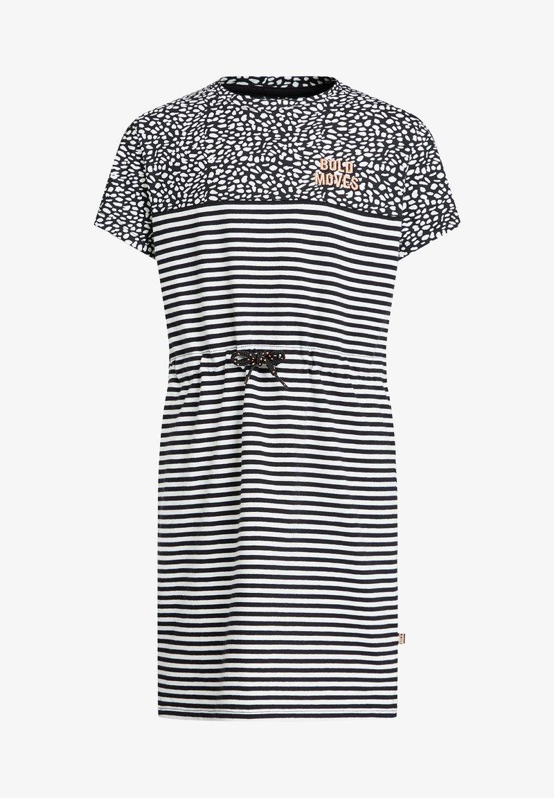 WE Fashion - MEISJES JURK - Jersey dress - white,black