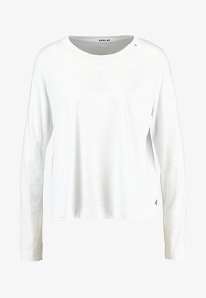 Long sleeved top - optical white