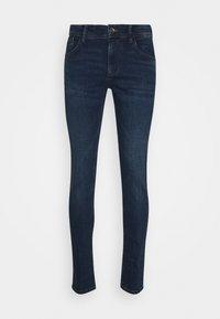 CULVER - Slim fit jeans - used dark stone blue denim