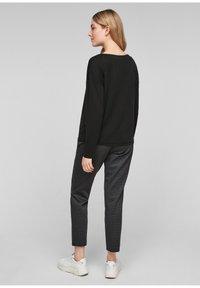 s.Oliver - DROPPED SHOULDER - Long sleeved top - black - 2