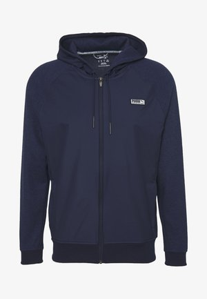 RUNWAY HOODIE - Huvtröja med dragkedja - peacoat heather