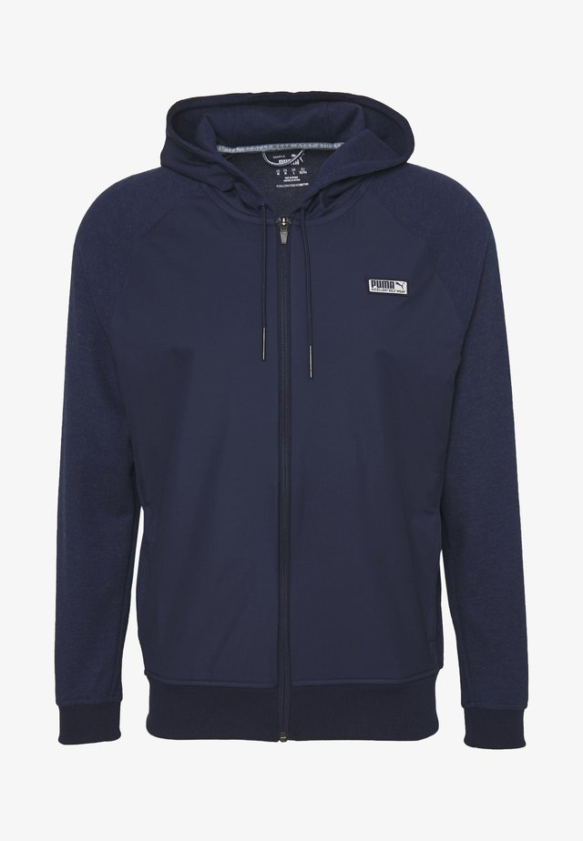RUNWAY HOODIE - veste en sweat zippée - peacoat heather