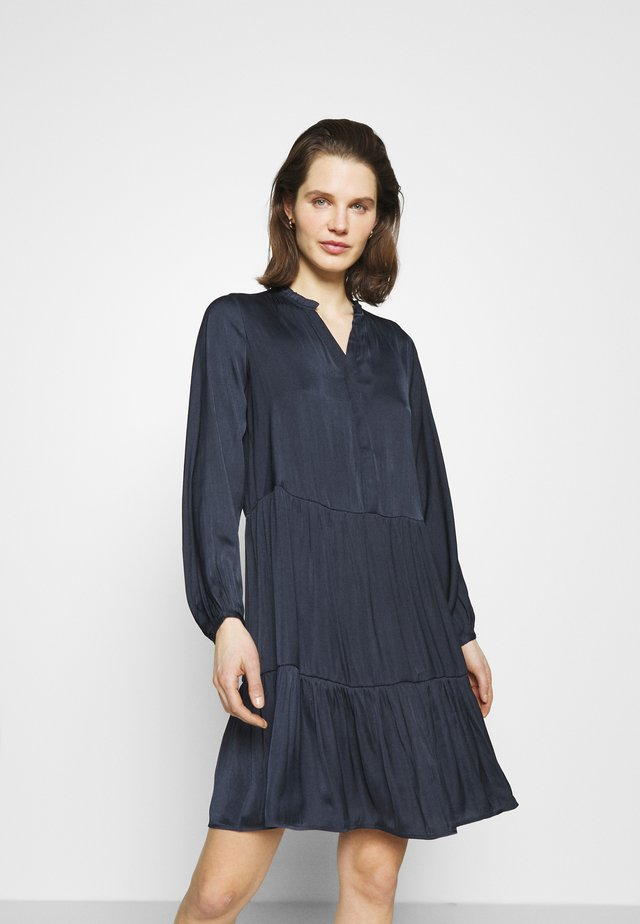 PAMELA - Shirt dress - navy