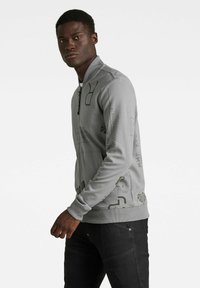 G-Star - EXTREME ALLOVER BASEBALL TWEETER - Zip-up hoodie - grey - 2