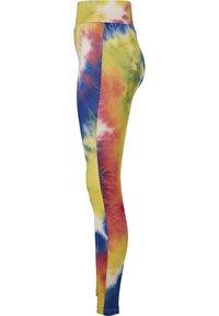 Urban Classics - TIE DYE HIGH WAIST  - Leggings - Trousers - royalblue/brightyellow - 6