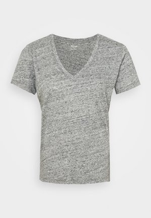 WHISPER V NECK TEE - T-shirt - bas - pewter