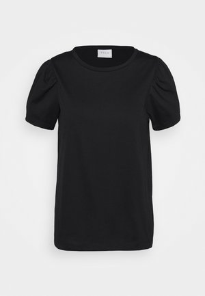 VIDREAMERS PUFF SLEEVE  - Jednoduché triko - black