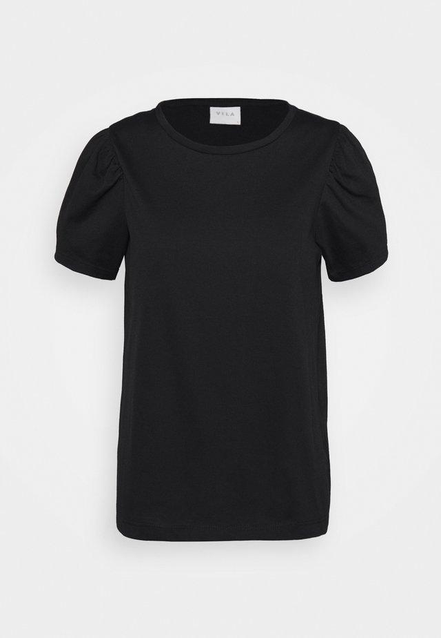 VIDREAMERS PUFF SLEEVE  - T-shirts - black