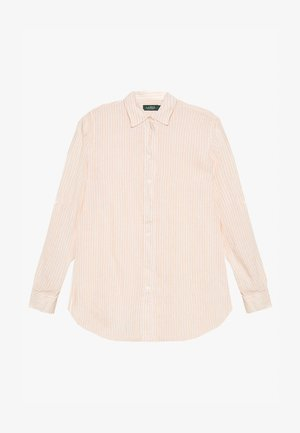 TISSUE - Button-down blouse - pink/cream