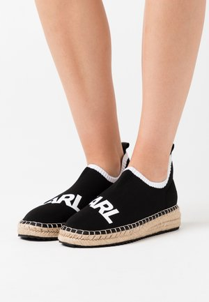 KAMINI SPRINT LOGO - Espadrillas - black/white