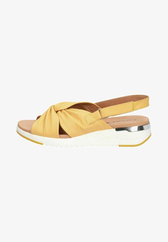 WOMS  - Sandaletter med kilklack - sun softnappa