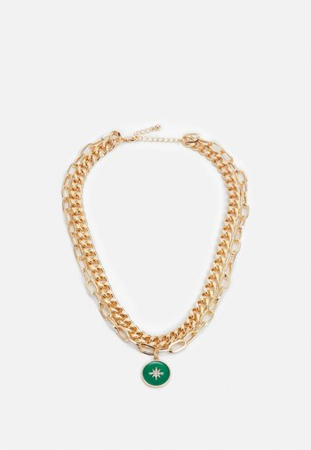 PCAROMA COMBI NECKLACE - Necklace - gold-coloured