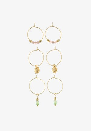 SET MIT SONNEN-MOTIV - Earrings - goldfarben