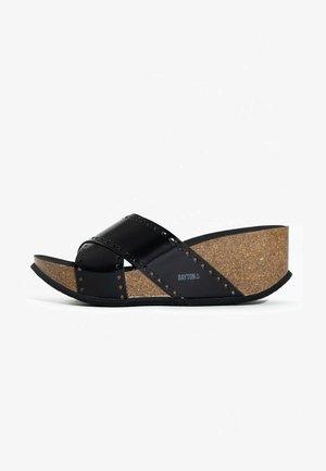LIVERPOOL - Sandalen met sleehak - black