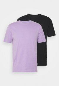 YOURTURN - 2 PACK UNISEX - T-shirt - bas - purple/black - 6