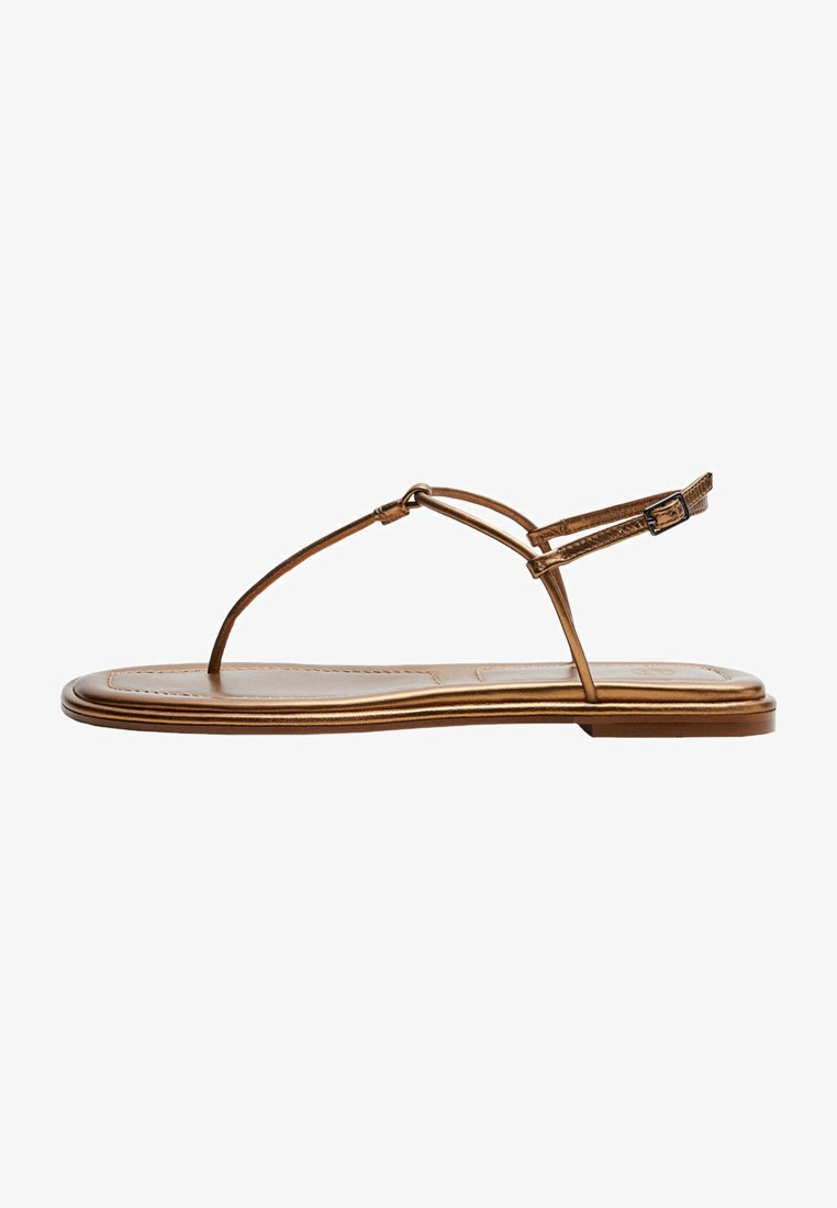 Massimo Dutti - T-bar sandals - gold