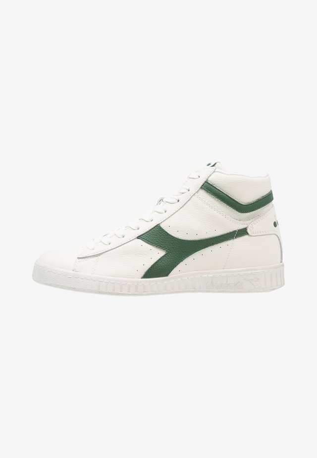 GAME WAXED - Sneakers hoog - white/fogliage