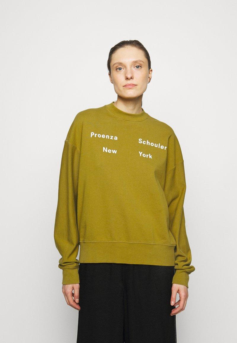 Proenza Schouler White Label - LONG SLEEVE - Sweatshirt - moss