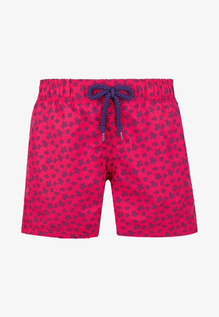 Vilebrequin - MICRO ROUND OF TURTLES - Swimming shorts - gooseberry red
