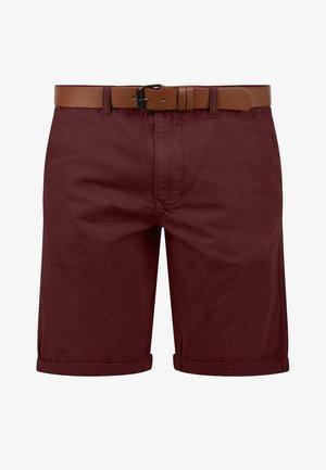 CHINOSHORTS MONTIJO - Shorts - wine red